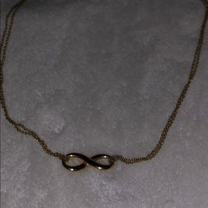 Tiffany & co 18k gold infinity  18' necklace